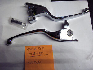 Harley Twin Cam Touring Chrome Clutch and Brake Lever Set 2008 -