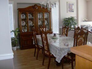 Like New Dining Set with Hutch, Sofa and 2 Love Seats