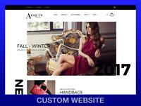 PREMIUM CUSTOM WEBSITE • Logo, eCommerce, Shopify, WordPress, ++