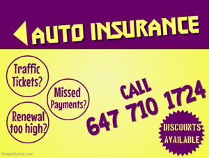 AUTO INSURANCE - CHEAP RATES (647 710 1724)