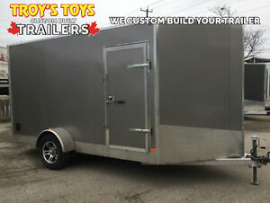 Canadian Made 2017 7'x12' Aluminum V-Nose Cargo Trailer