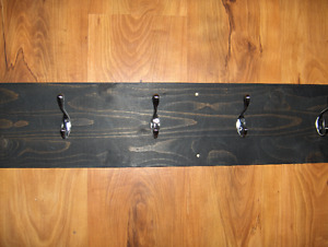 Hanging Coat Rack with 6 hooks 48 inches long