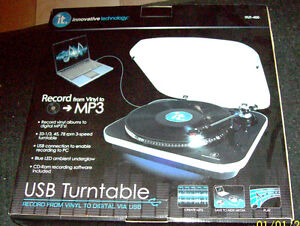 usb turntable records  into cd's