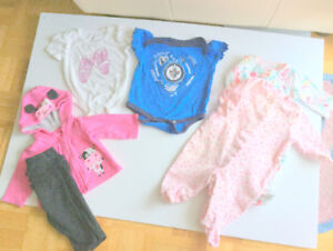 Baby Girl Adorable Clothes (0-3 m.) (6 pc. $2.30 ea.) Jets Onesi