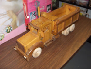 Hand Crafted Wooded Dump Truck