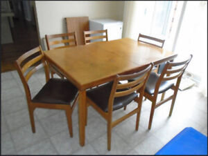 Teak Dining Table With Chairs Kijiji In Ottawa Buy Sell Save