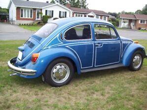 vw beetle bleu 1973 prendrais un échange
