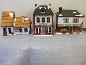 Dickens Christmas houses - all retired pcs