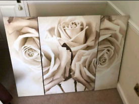 3 piece rose canvas