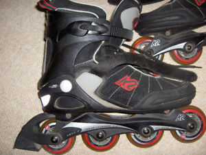 Like New K2 Roller Blades 9 1/2 With Key