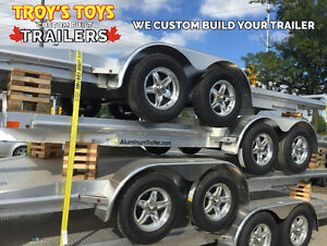 7'x18' ALUMINUM Car Carrier Trailer