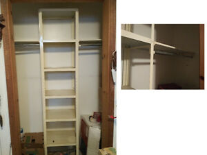 Metal closet shelving/organiser with Rods.