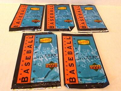 Dennys Upper Deck Baseball Card 1995 Lot Of 5 Card Packs Holograms Nip
