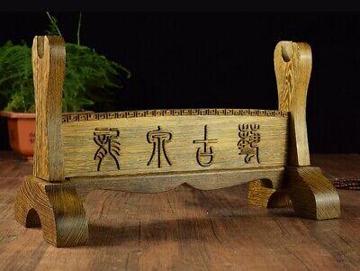 Used, Heavy Wenge Wood Samurai Sword Knife Dagger Display Rack Holder Stand Base for sale  China