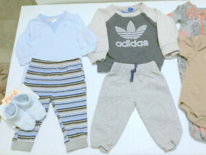 Baby BOY (3-6) Adidas Sweater, Pants (Sweet GIFT) Free Boots