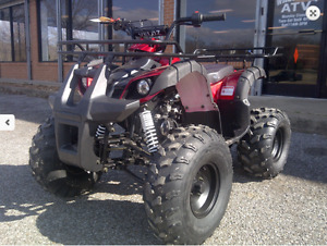 Larger Youth ATV in stock again ODES 125cc  \\ 905 665 0305