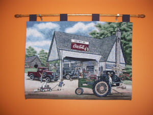 Coca cola and John Deere tapestry
