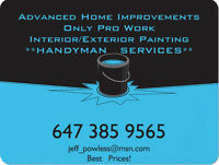 Handyman For all Your Needs! Best Prices! No Job to Small