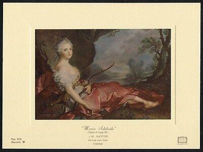 Uffizi Gallery - Nattier MARIE ADELAIDE Louis XV huntress Diana 1969 Uffizi Gallery art card