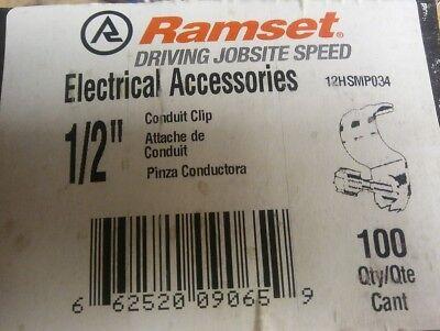 Ramset 12hsmp034 Conduit Clip With Pin For 12 Emt 100pcs