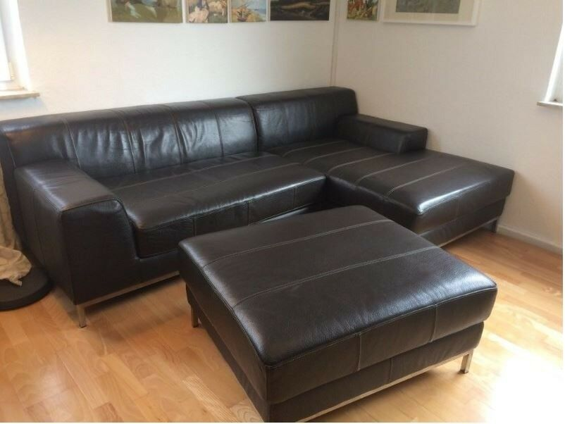 Excellent Large Ikea Kramfors Sofa Brown Leather L Shape Sofa In Sunniside Tyne And Wear Gumtree Download Free Architecture Designs Scobabritishbridgeorg