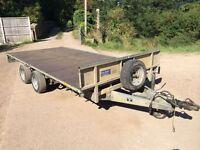 ifor williams trailer lm146g flatbed car transporter dropside trailer
