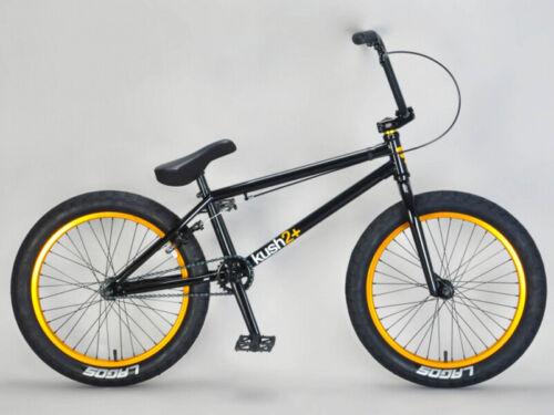 "Mafiabike 20"" Kush 2+ Freestyle BMX Bicycle Bike 3 Piece Crank Black/Gold NEW"