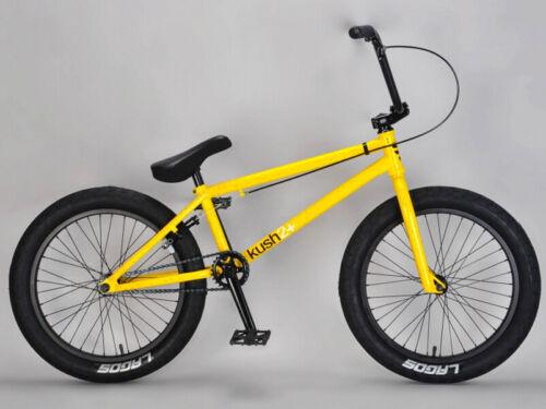 """Mafiabike 20"""" Kush 2+ Freestyle BMX Bicycle Bike 3 Piece Crank Yellow NEW"""