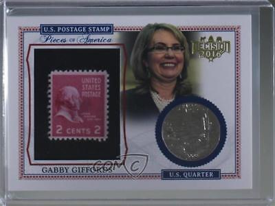2016 Decision Pieces of America #PA26 Gabby Giffords Non-Sports Card 0lm