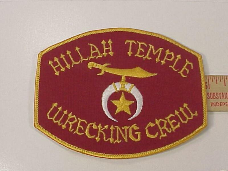 Hillah Temple Wrecking Crew Patch