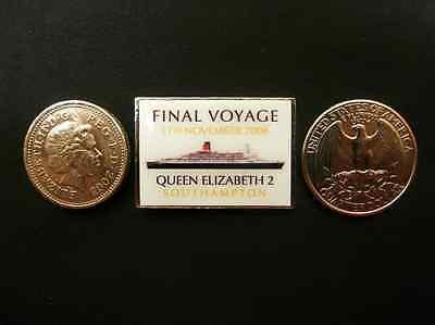 QE2 Cunard Queen Elizabeth 2 Final Voyage Lapel Pin Ocean Liners/ Cruise Ships