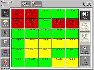 SOFTWARE POSPROM GASTRO 3.4  RESTAURANT BIS 30 TISCHEN ( KASSENSYSTEM )