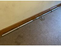"""Brand-New 7ft 2"""" Olympic Weightlifting Barbell 400kg rated weight 2 New clips included."""