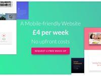 Website, Hosting & Domain | FREE Mock-up | Glasgow | £4/pw | Web Design | Web Designer