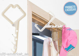 Colgador de ropa para puertas y ventanas secar colgar ropa for Colgador ropa pared