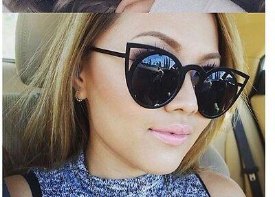 NEW Quay Black Invader Cateye Cutout Sunglasses