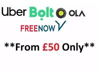 PCO Car Hire / Rent / Discounted Prices From £50 ** Uber / Bolt / Ola / Freenow