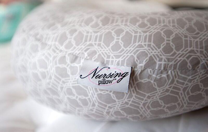 Nursing Pillow Hush Gray Fabric Breastfeeding Baby Infant Functional Comfortable