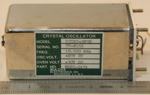 HP0960-0151/Bulova PC0X0-HP02 Crystal Oscillator 10 MHz