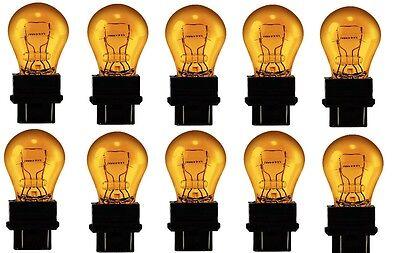 10x 3357NA/3457NA Natural Amber Miniature Lamp Turn Signal Light bulb 3357/3457