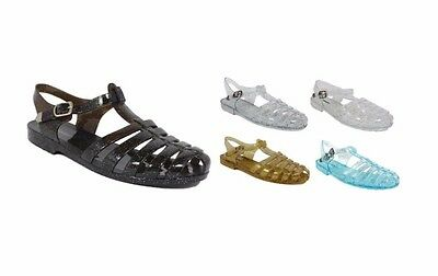 Women's Glitter Jelly Slingback Strappy Sandals