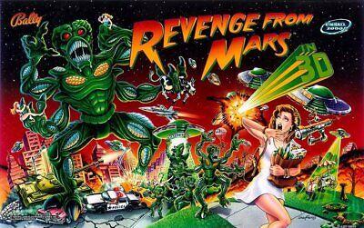 Bally Revenge From Mars Reproduction Pinball Translite