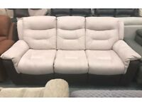 DFS suede 3 seater recliner sofa