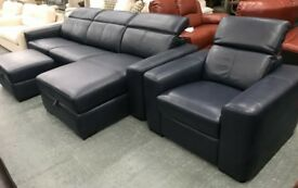 DFS Reinzo suite in blue leather