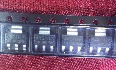 10pcs X Ams1117-5.0 - 5.0v 1a Lvdo Voltage Regulator - Sot-223 - Us Seller