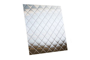 details about quilted stainless steel backsplash 30 x36 hemmed edge