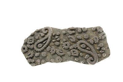 Antique Bunta Stamped Wood Printing Fabric Textile Batik Rajasthan India NP17C11