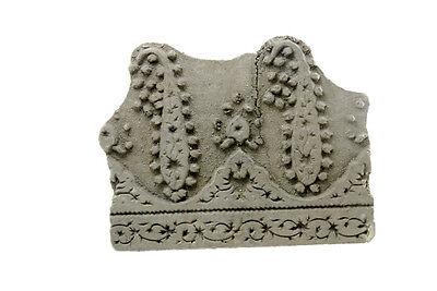 Antique Bunta Stamped Wood Printing Fabric Textile Batik Rajasthan India NP17A5