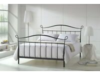 Joseph senna queen Black Metal Bed Frame 5FT King Size