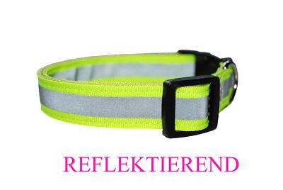 REFLEX Hundehalsband Hund Halsband 20 MM Breit Reflektierend Leuchtend